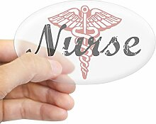CafePress Krankenschwester Oval Aufkleber