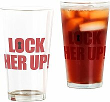 CafePress - Lock Her Up - Pint-Glas, 473 ml