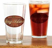 CafePress Long Island Eistee Pint-Glas durchsichtig