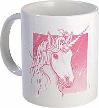 CafePress, Magical Pink Einhorn–Einzigartige Kaffee Tasse, Kaffeetasse, Small weiß