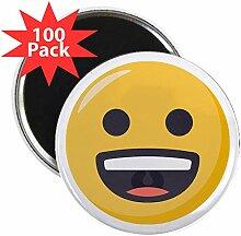 CafePress Magnet mit grinsendem Gesicht, 5,7 cm,
