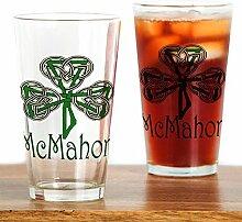 CafePress Mcmahon Pint-Glas mit Kleeblatt