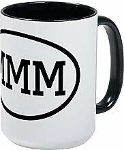 CafePress MMM Ovale Kaffeetasse, groß, 425 ml