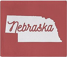 CafePress Nebraska Fleece-Überwurf, 127 x 152 cm,