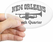 CafePress New Orleans French Quarter Sticker
