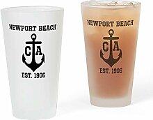 CafePress Newport Pint-Glas mit Ankermotiv frosted