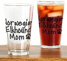 CafePress Norwegisches Elkhound MOM Pint-Glas