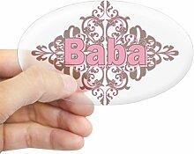 CafePress Persönlichen Baba Oval Aufkleber