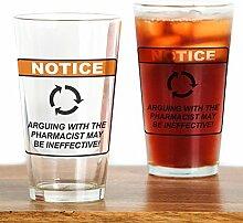 CafePress Pint-Glas für Apotheker/Argue farblos