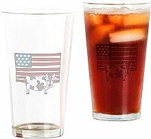 CafePress Pint-Glas mit amerikanischer Flagge