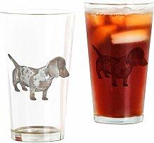 CafePress Pint-Glas mit Dackel-Motiv farblos