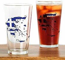 CafePress Pint-Glas mit griechischer Flagge, 473