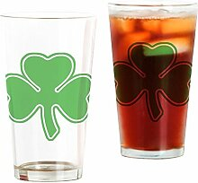 CafePress Pint-Glas mit Kleeblatt farblos