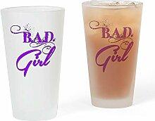 CafePress Pint-Glas mit Logo Bad Girl, Violett