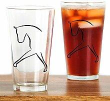 CafePress Pint-Glas mit Pferdemotiv, 473 ml