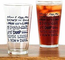 CafePress Pint-Glas mit Schneebetenmotiv, 473 ml