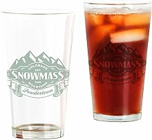 CafePress Pint-Glas mit Schneemassen-Berg-Emblem