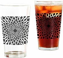 CafePress Pint-Glas mit Tropfenmuster farblos
