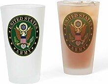 CafePress Pint-Glas mit US-Armee-Symbol, 473 ml