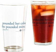 CafePress Pint-Glas mit Zitat von Poundcake farblos