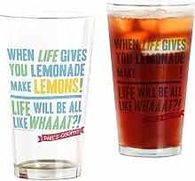 CafePress Pint-Glas, modern, für die Familie