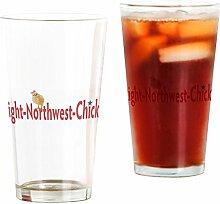 CafePress Right Northwest Chicks Glas mit Logo No