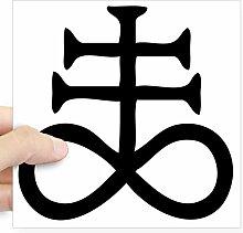 CafePress satanischen Kreuz Quadratisch Aufkleber