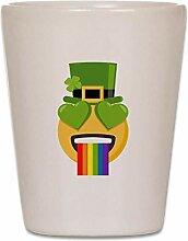 CafePress Schnapsglas mit grünem Herz,