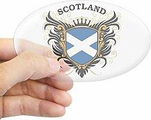 CafePress Schottland Aufkleber oval, farblos, 3x5
