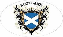 CafePress Schottland Aufkleber oval, weiß, 3x5