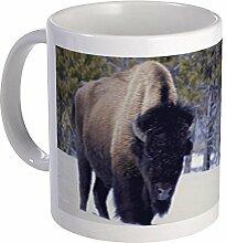 CafePress Tasse mit Bison Snow, einzigartige