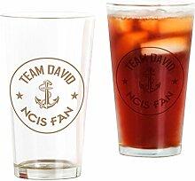 CafePress Team David Bierglas, 473 ml Trinkglas