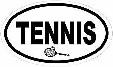 CafePress Tennisschläger Oval Aufkleber Aufkleber