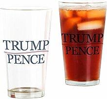 CafePress Trump Pence-Glas für President