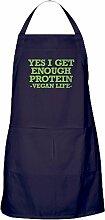 CafePress Vegan Life Küchenschürze mit Taschen