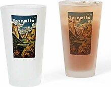 CafePress Vintage Pint-Glas für Reisen frosted