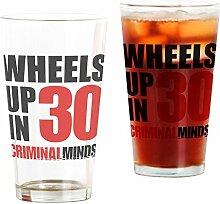 CafePress Wheels Up Glas für 30 Pint-Glas, 473 ml