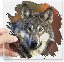CafePress Wolf quadratisch Aufkleber 3x 3,