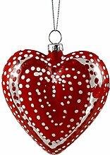 Caffco Valentinstag Herz Hand Bemalt Glas Ornamen