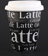 CAFFE LATTE Coffee-to-go Becher aus Porzellan