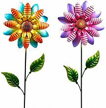 CAGO Gartendeko 2erSet Metall Blume 105 cm Stecker