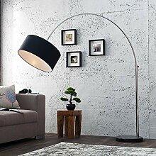 Bogenleuchte Bogenlampe Chaplin 215cm Schwarz Gold Marmor