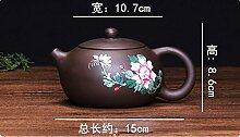 Cahookkot Teekanne,Handbemalte, lila Ton