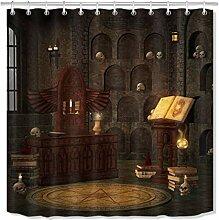 caichaxin Halloween Lab Magic Bücherturm Schädel