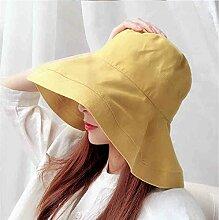 CAICOLOR Urlaub Sonnenblende Sonnenschutz Sommer Sonnenschirm Hut japanische Freizeit Wild (Farbe : Gelb)