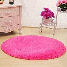 CAICOLORFUL Nettes rundes Bett mit Teppich Teppich Fitness Yoga Wiege Computer Stuhl Lounge Wohnzimmer Schlafzimmer Teppich (Farbe, Größe optional) Innen Teppich ( Farbe : #5 , größe : 120cm )
