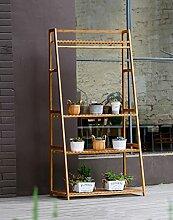 CAIJUN Blumenständer Blumentopf Rack, Indoor Multi-Layer Leiter Blumenrahmen Balkon Wohnzimmer Blumentopf Rack ( größe : 50*166cm )