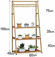 CAIJUN Blumenständer Blumentopf Rack, Indoor Multi-Layer Leiter Blumenrahmen Balkon Wohnzimmer Blumentopf Rack ( größe : 60*166cm )