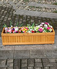 CAIJUN Blumenständer Blumentopf Regal Holz Blumentöpfe Rectangular Pflanzen Blumentöpfe Grün Vegetation Bonsai Outdoor Landschaft Pflanze Blumentöpfe ( Farbe : B , größe : 90cm )