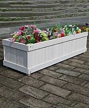 CAIJUN Blumenständer Blumentopf Regal Holz Blumentöpfe Rectangular Pflanzen Blumentöpfe Grün Vegetation Bonsai Outdoor Landschaft Pflanze Blumentöpfe ( Farbe : A , größe : 60 )